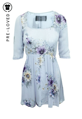 Reformation purple Pre-Loved reformation Long Sleeves Flowery Dress 3E05AAA1E7BF9CGS_1