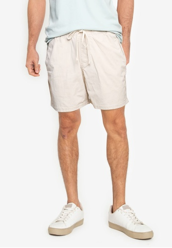 Hollister beige 5 In Jogger Shorts 454C6AA7BA7EDFGS_1