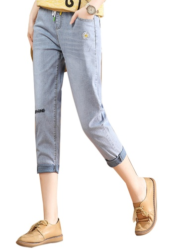 A-IN GIRLS blue Denim Jeans With Elastic Waist 1F252AAB3853CAGS_1