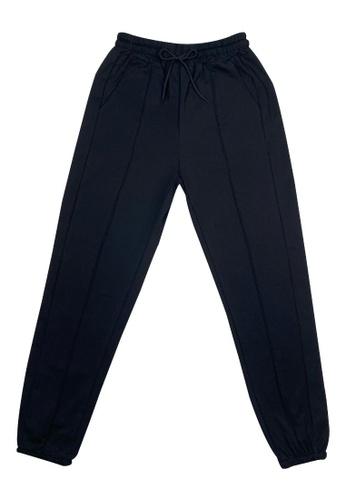 DRUM black Casual Sweatpants- Black 21854AA683CF74GS_1