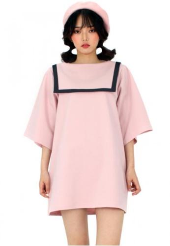 A X A pink Sailor Dress AX230AA96CCPSG_1