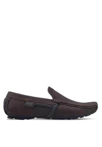 Louis Cuppers brown Sewn-Up Loafers 2694FSH10B2090GS_1