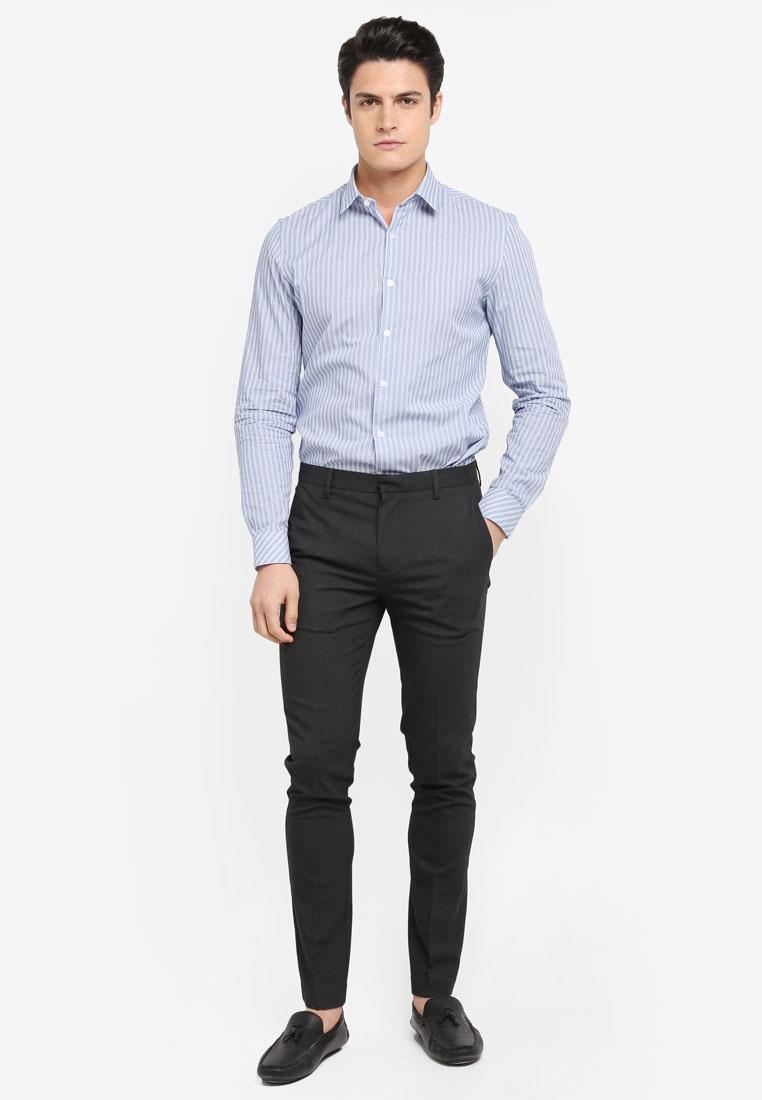Topman Shirt Blue Stripe Stripe Shirt Topman IwpfnSqv