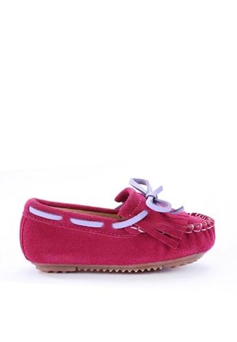 Twenty Eight Shoes 粉紅色 VANSA  流蘇牛猄皮平底鞋  VSK-F312 A400DKSF3BCEA1GS_1