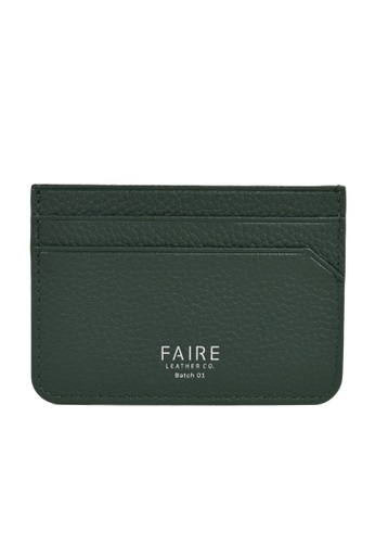 Faire Leather Co. green Specter PG Slim Cardholder (Green) - Slim Leather Wallet 3AA7EAC7419B3EGS_1