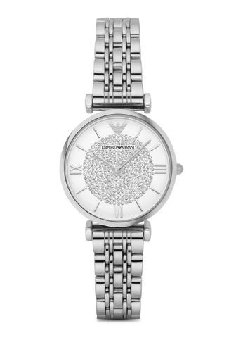 ARMANI silver Gianni T-Bar Silver Watch AR1925 AR024AC0RTH6MY_1