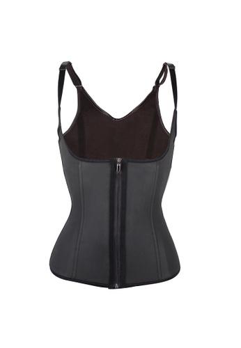 dbd9c64881 YSoCool black Women Waist Trainer Corset Vest Neoprene Sweat Shaper with  Adjustable Straps A05F1US6098E78GS 1