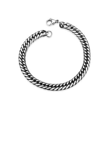 Glamorousky silver Fashion Simple 7mm 316L Stainless Steel Bracelet 6FCEEAC13E2365GS_1