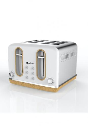 Odette white Streamline Series 4-Slice Bread Toaster (White) C2634HL99E6717GS_1