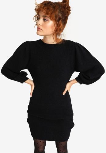 PIMKIE black Puff Sleeve Jumper Dress 21532AA39FDA38GS_1