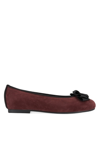 SPUR red Origami Twister Bow Flats 30C71SH138AC36GS_1