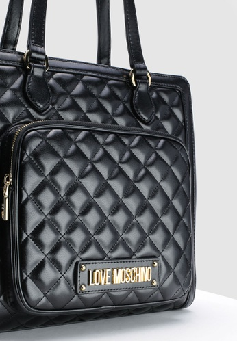 c3140d90e4c11 Shop Love Moschino Quilted Tote Bag Online on ZALORA Philippines