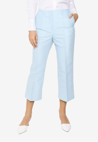 H&M blue Wool-Mix Ankle-Length Trousers AF9A3AA5A2427CGS_1