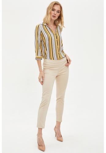 DeFacto beige Woman Trousers F1396AAFBA8328GS_1