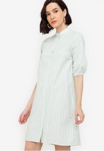 ZALORA WORK multi Puff Sleeves A Line Dress 15670AAE5FD05BGS_1