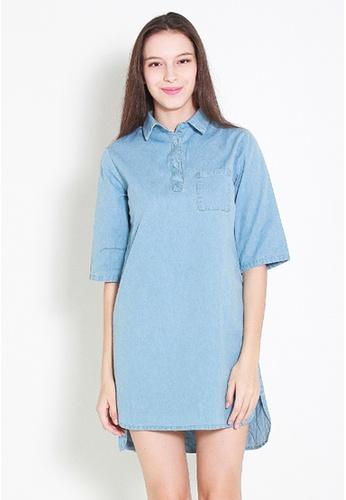 Leline Style blue Tyxi Denim Dress LE802AA33FECSG_1