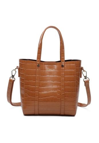 Milliot & Co. 褐色 Selma Totes Bag 12138AC2EAC0C9GS_1