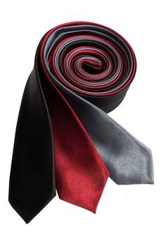 Plain Slim Necktie Combo 1