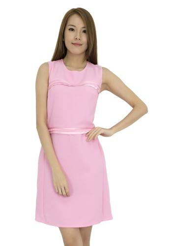 MOONRIVER pink Isebella Sweet Fit And Flare Dress MO886AA0F3WRSG_1