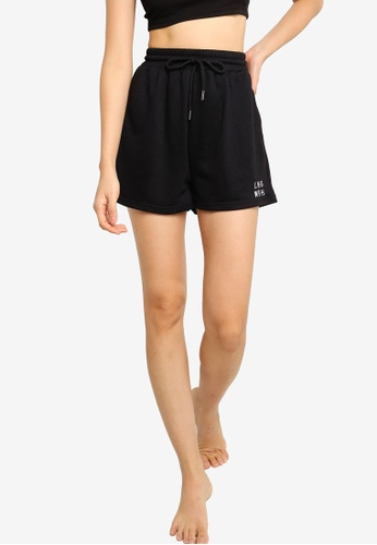 ZALORA BASICS black Lounge WFH Shorts 9D9FEAA151F500GS_1