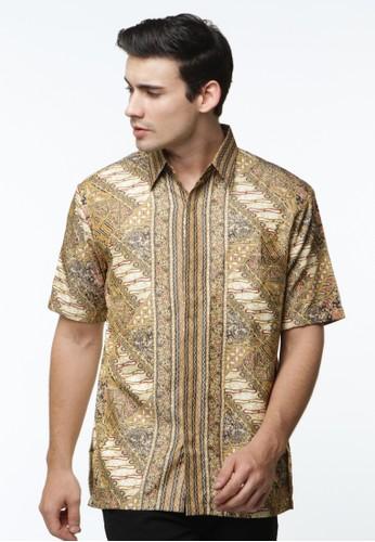 Waskito Hem Batik Semi Sutera - HB LE 18278 - Yellow