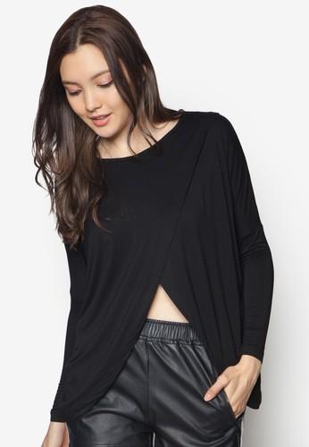 zalora taiwan 時尚購物網Chiffon Pieced Top, 服飾, 上衣