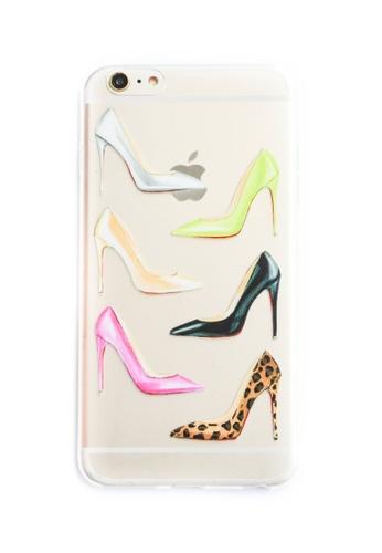 Fancy Cellphone Cases multi Stilletos and Flowers Soft Transparent Case for iPhone 6plus/6splus   FA644AC53WGCPH_1