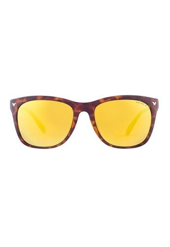 Police brown POLICE Game 8 Wayfarer Tortoise Sunglasses SPL113G PO706AC23OWUMY_1