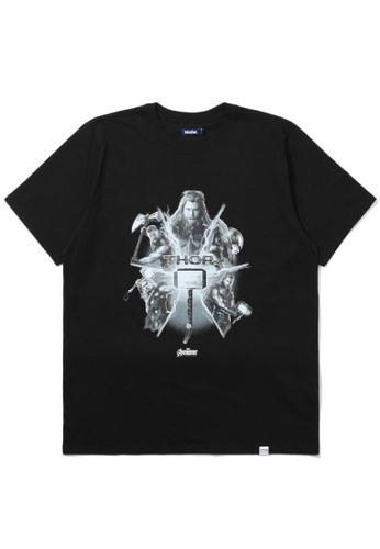 BLOCKAIT black X Marvel Thor graphic tee 98493AAB1CAF2CGS_1