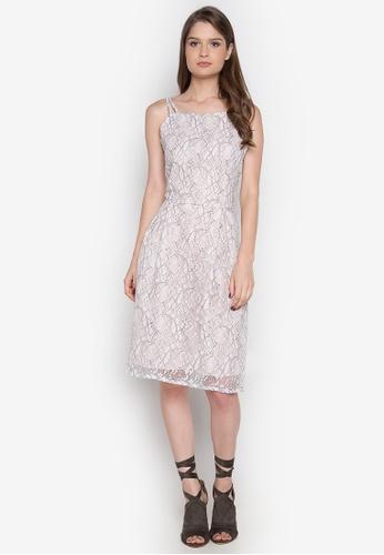 Chelsea white Esteva Spaghetti Strap Lace Dress CH004AA0JSZUPH_1