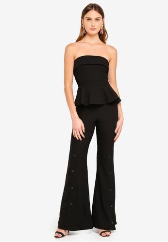 Goddiva 黑色 無肩帶設計修腰連身褲 13654AAC06C3E2GS_1