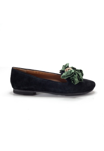 Shu Talk black LeccaLecca Suede Leather BOW BOW Flats 9463DSHFDAD4DFGS_1