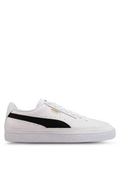 4dc4319bc4f2 PUMA white Basket Skate Sneakers 4E423SH837E880GS 1