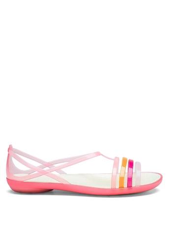 Twenty Eight Shoes 粉紅色 搭帶果凍雨鞋及沙灘涼鞋 VR1808 B17C2SHC37C560GS_1
