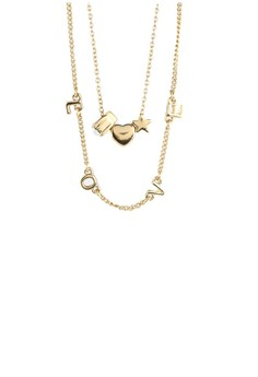 Heart Star Love Double Necklace