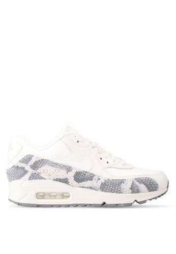 Nike white Women's Nike Air Max 90 Premium Shoes NI126SH0STSGMY_1