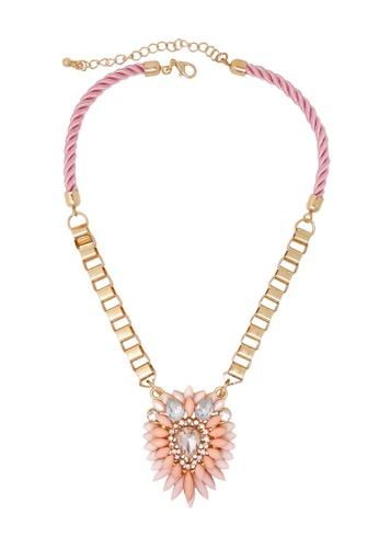 Jaysa Collection pink Pastel Pink Statement Choker A2510ACB2626B5GS_1