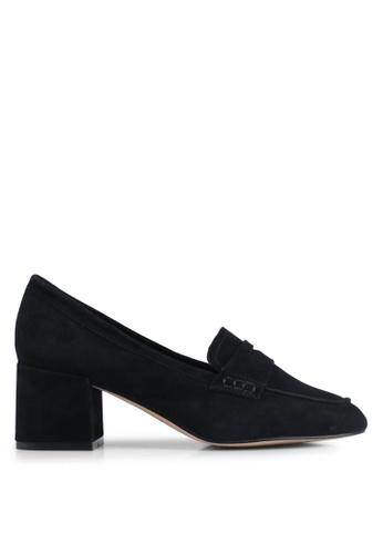 ALDO 黑色 麂皮高跟鞋 0BE99SH97C74EBGS_1