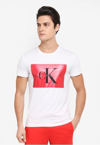 Calvin Klein white Tikimo 2 Slim Crew Neck Short Sleeve T-Shirt - Calvin Klein Jeans 13507AADA3DAF6GS_1