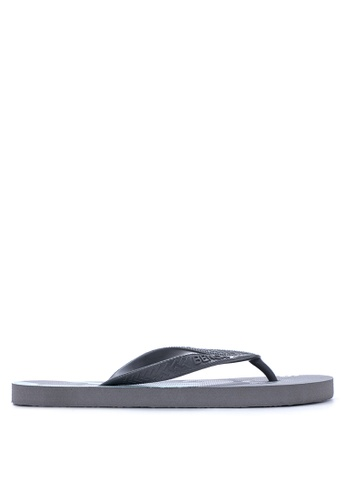 BENCH black Printed Rubber Slippers BE550SH93MBUPH_1