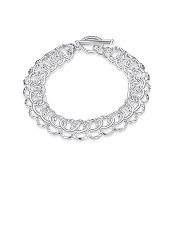 Glamorousky silver Fashion Simple Geometric Round Bracelet E8C53AC7F29130GS_1