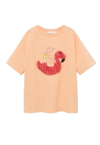 MANGO KIDS orange Embossed Printed T-Shirt 1EF56KAA501FABGS_1