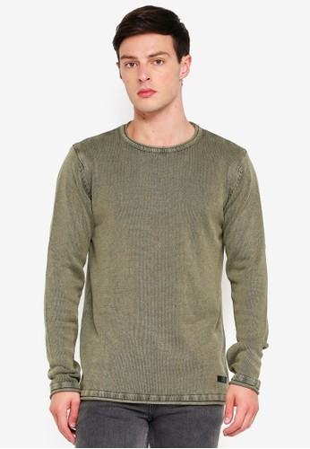 Indicode Jeans green Cuti Longline Washed Knitted Sweater 56642AAA7D875FGS_1