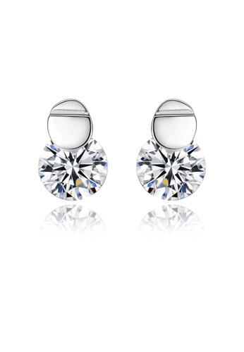 SUNRAIS silver High quality Silver S925 silver simple design earrings E79A8AC1A59118GS_1