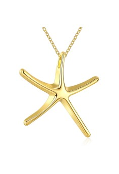 N041 Simple Starfish Design Pendant Necklace Party Jewelry