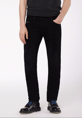 Diesel black Tapered R.Slim Belther Jeans-Den 042E9AAEA94661GS_1