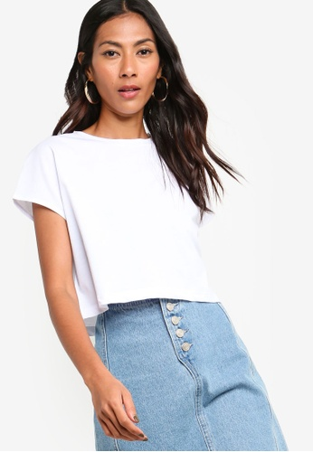 ZALORA BASICS white Basic Boxy T-Shirt 5F789AA9730747GS_1