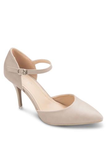 Carman 側空繞踝高跟esprit門市鞋, 女鞋, 鞋