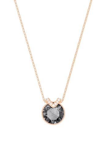 Swarovski black and gold Bella Pendant Necklace B0799AC55BC849GS_1
