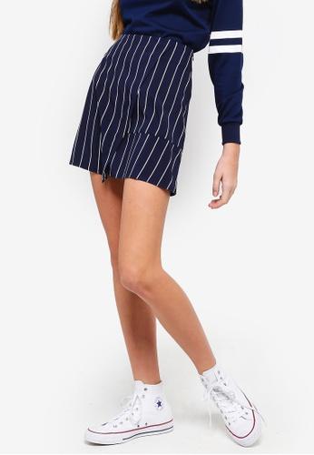 Something Borrowed navy Striped Mini Skirt 288D0AAA4F5E51GS_1